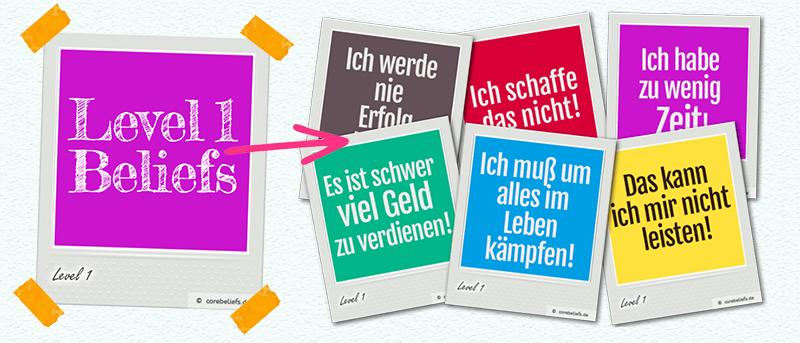 Arten von Glaubenssätzen | Level 1 Glaubenssätze | corebeliefs.de